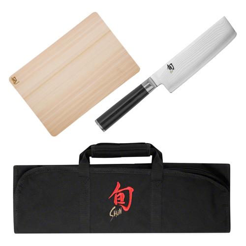 Shun Premium Kitchen Cutlery, Knife Rolls and Cutting Board
