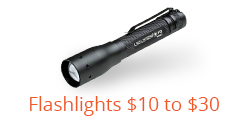 Flashlights from 10 to 30 Dollars