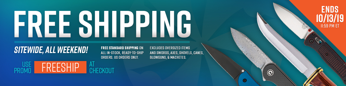 Free Shipping Sitewide, All Weekend!