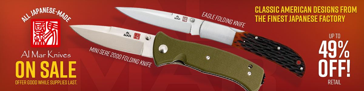 All Japanese Made Al Mar Knives On Sale!