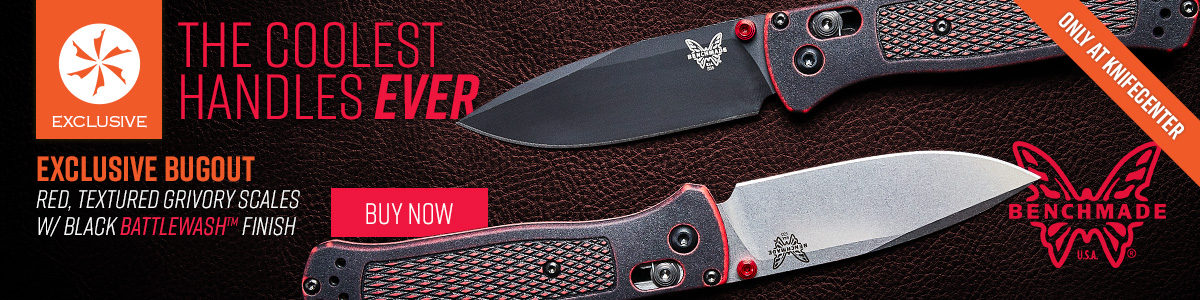 KC Exclusive Red and Black Benchmade Bugout