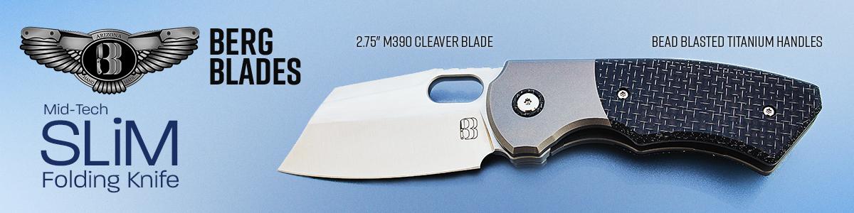 Berg Blades Mid-Tech Slim Folding Knives