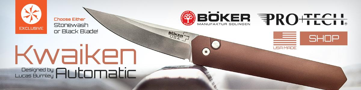 Shop for KC Exclusive Boker Pro-Tech Kwaikens Here!
