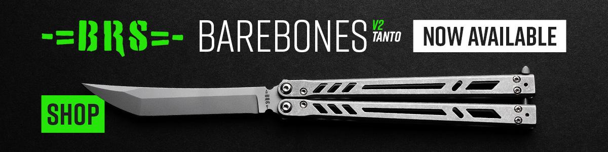 Shop for BRS Bladerunners Systems Barebones Tanto V2 Balisong
