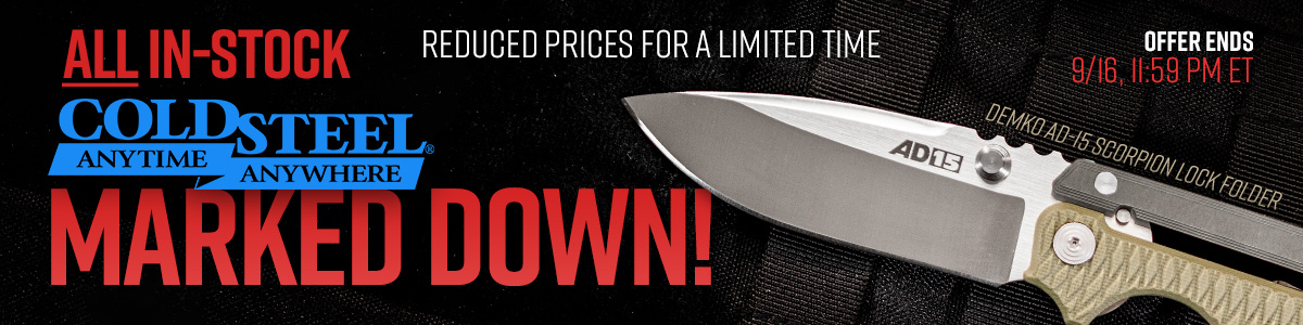 All In-Stock Cold Steel Marked Down