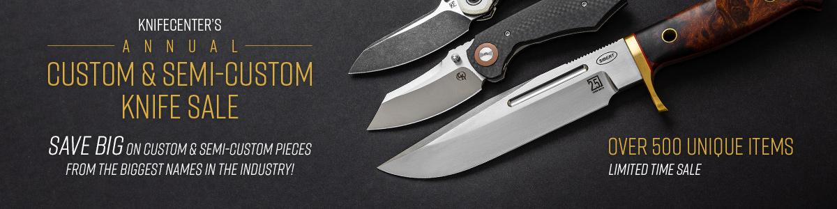 Shop KnifeCenter's Annual Custom and Semi-Custom Knife Sale