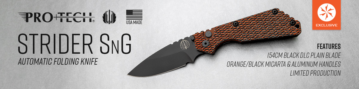 Shop for the KnifeCenter Exclusive Pro-Tech Strider SnG AUTO Folding Knife