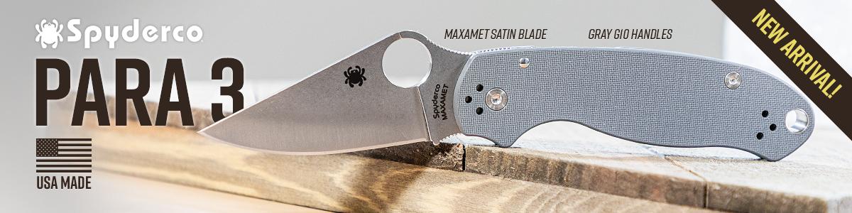Spyderco Maxamet Gray Para 3