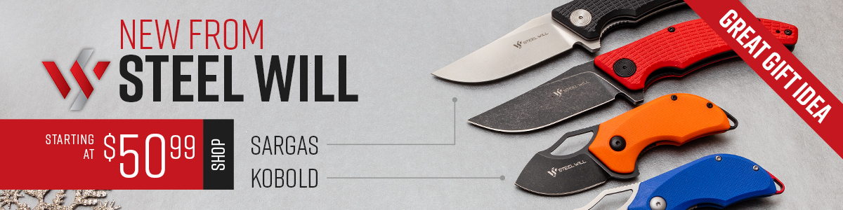 Shop All Steel Will Kobold and Sargas D2 Steel Flippers