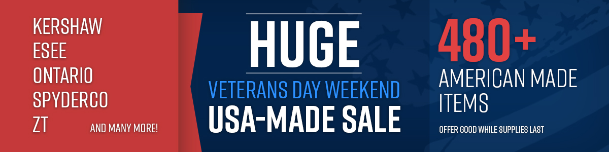 Shop the Veterans Day Weekend USA-Made Sale