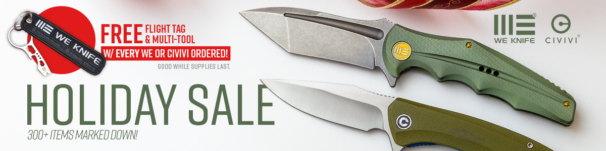 Shop the WE Knife and Civivi 2019 Holiday Sale