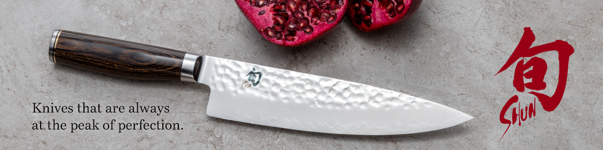 Shun Cutlery Knives that are always at the peak of perfection and decorative background