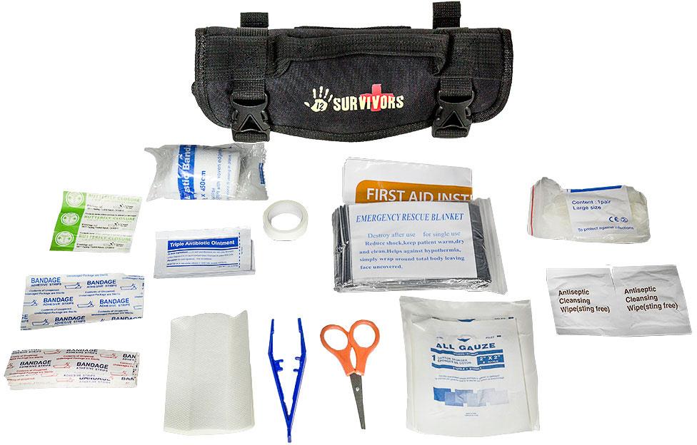 12 Survivors Mini First Aid Rollup Kit