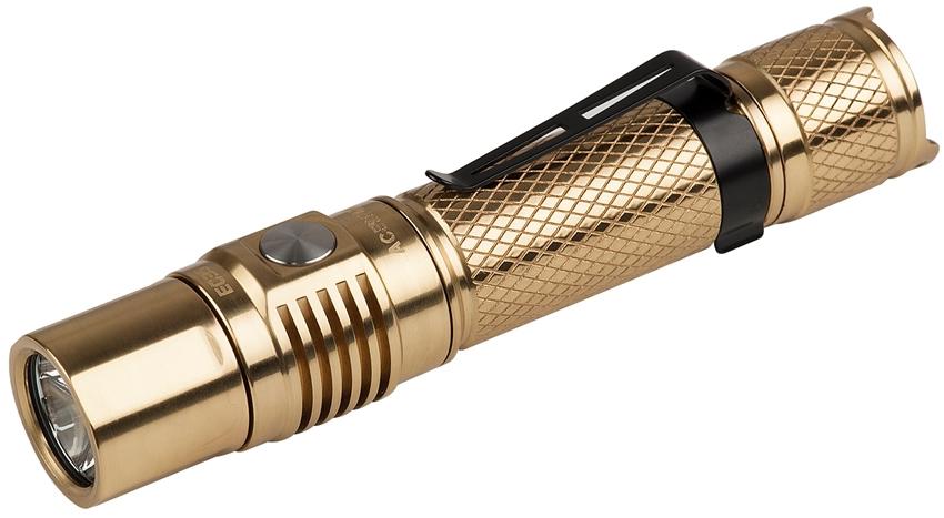 AceBeam EC35 LED Flashlight, Bronze, 1100 Max Lumens