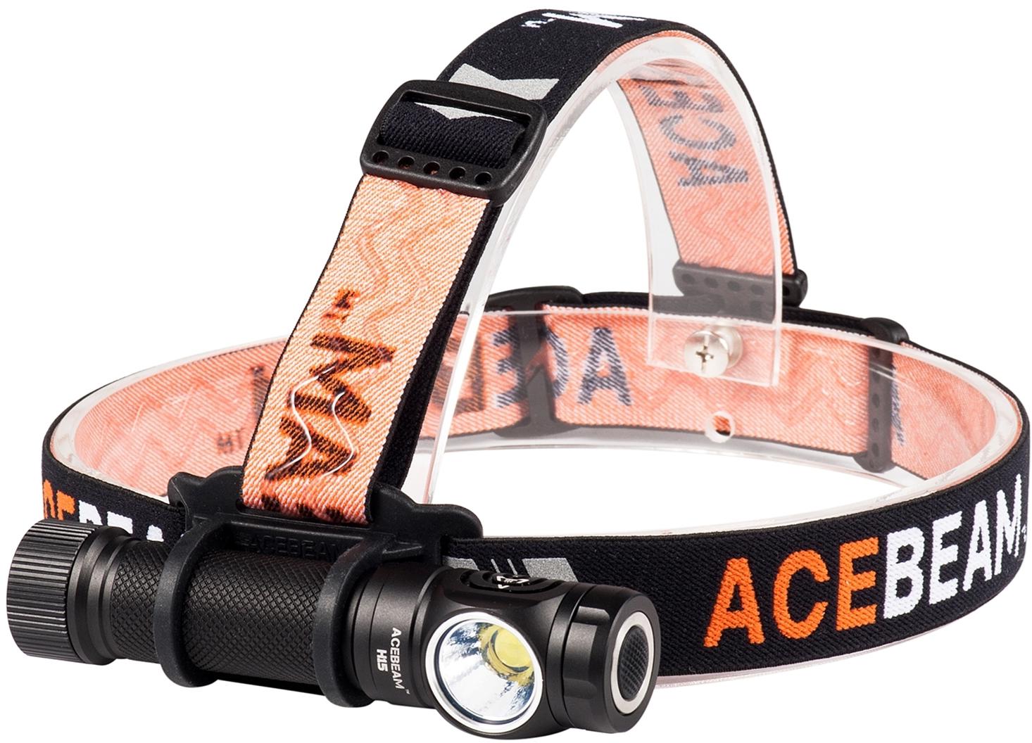AceBeam H15 LED Headlamp, Black, 2500 Max Lumens