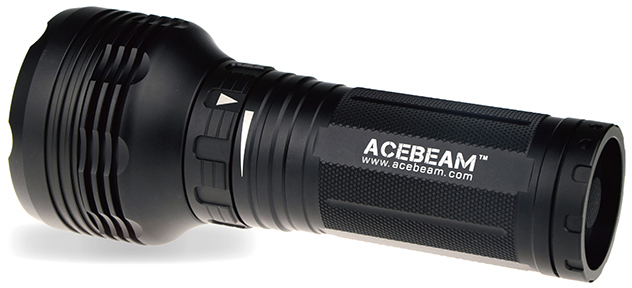 AceBeam K40S LED Flashlight, Black, 1500 Max Lumens