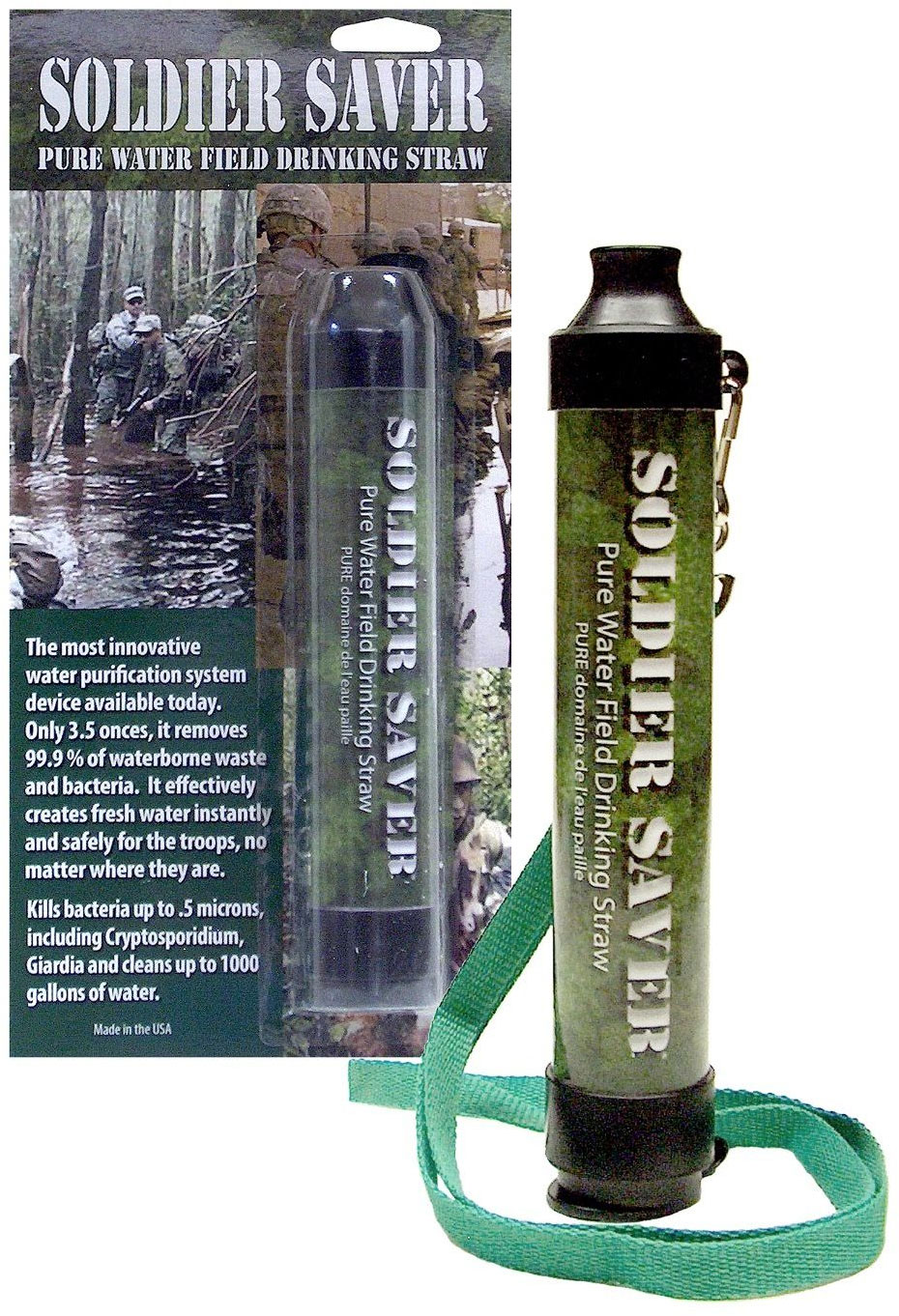 AFI-USA Soldier Saver Field Filtration Straw