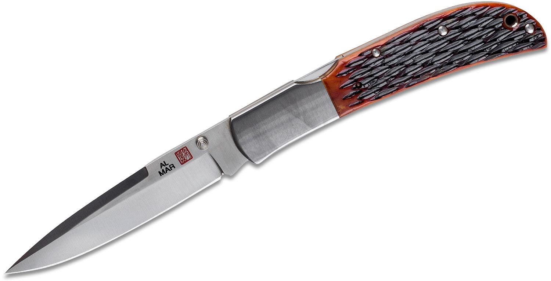 Al Mar 1005HJBT Eagle Folding Knife 4 inch Talon Blade, Honey Jigged Bone Handles