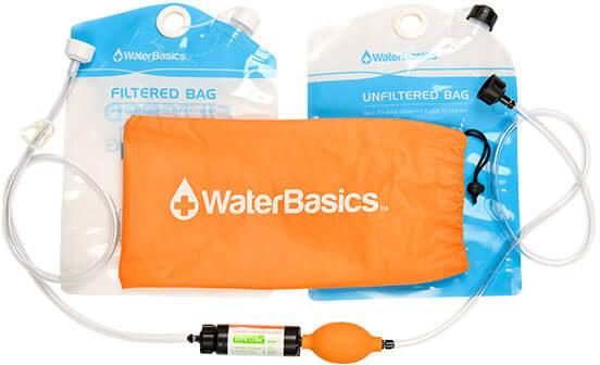 Aquamira PRO Water Straw Gravity Filter Purifier Orange