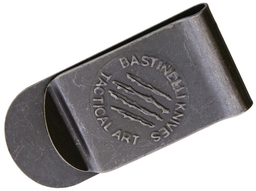 Bastinelli Creations Tactical Art Money Clip, Black Stonewash