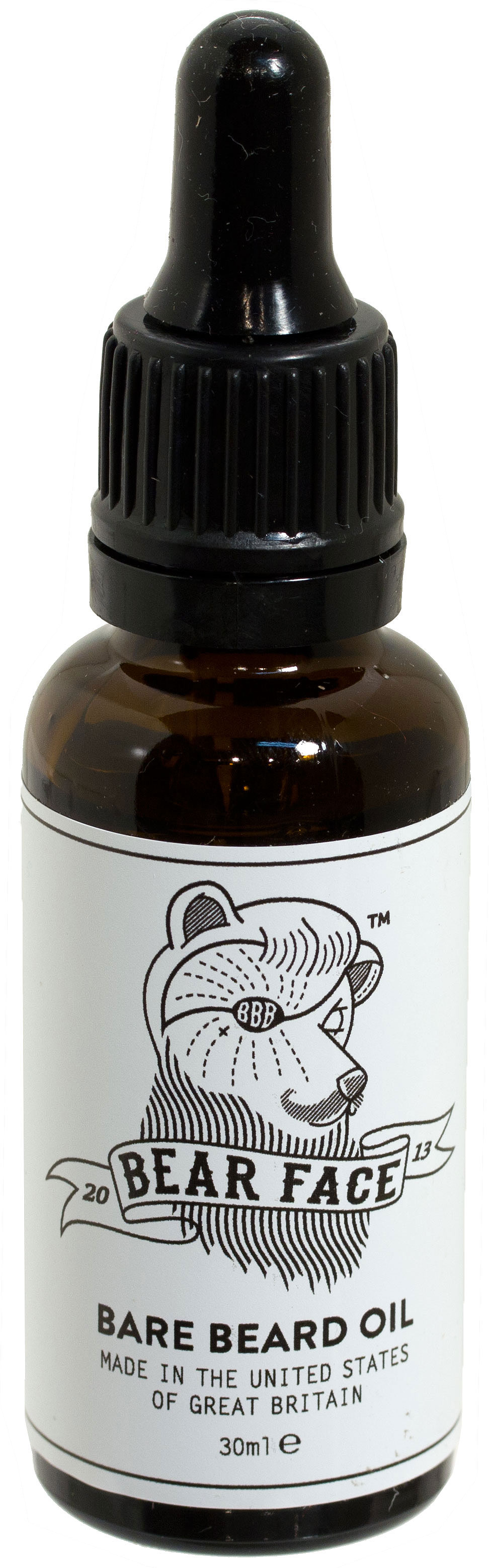 Bear Face Bare Beard Oil for All Faces, 30ml Eye Dropper Bottle