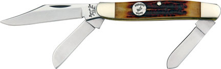 Bear & Son Red Bone Large Stockman 4 inch Closed