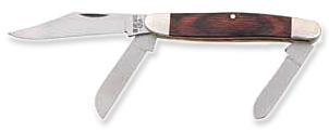 Bear & Son Large Stockman Knife w/ 3 Blades & Rosewood Handle - 4.0 inch Closed