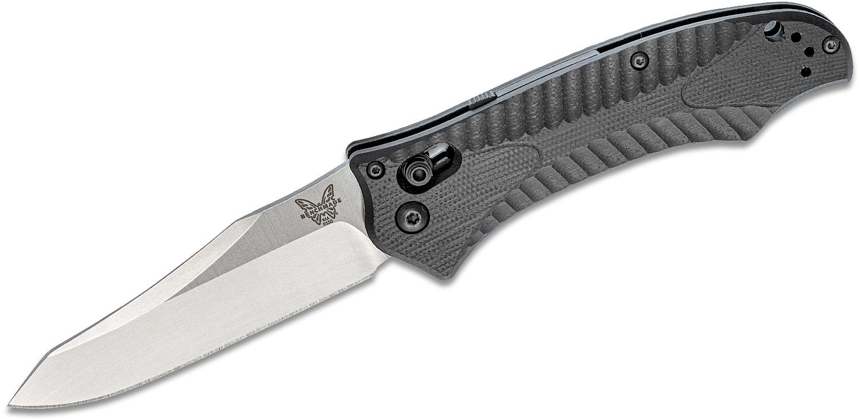 Benchmade Osborne Rift AUTO AXIS 3.67 inch Satin Plain Blade, Black G10 Handles