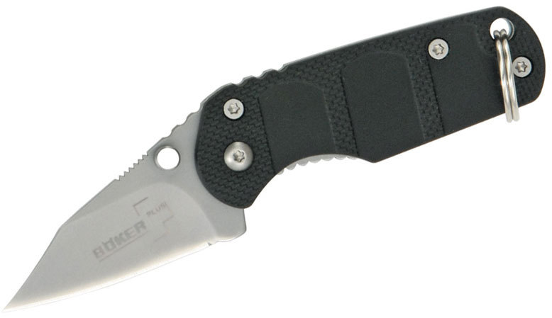 Boker Plus CLB Keycom Folding Knife 1.5 inch Bead Blast Blade, FRN Handles