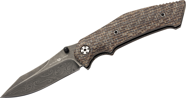 Browning Black Label Wihongi Signature Hemp Large Folding Knife 3.25 inch Plain Blade, Hemp Micarta Handles