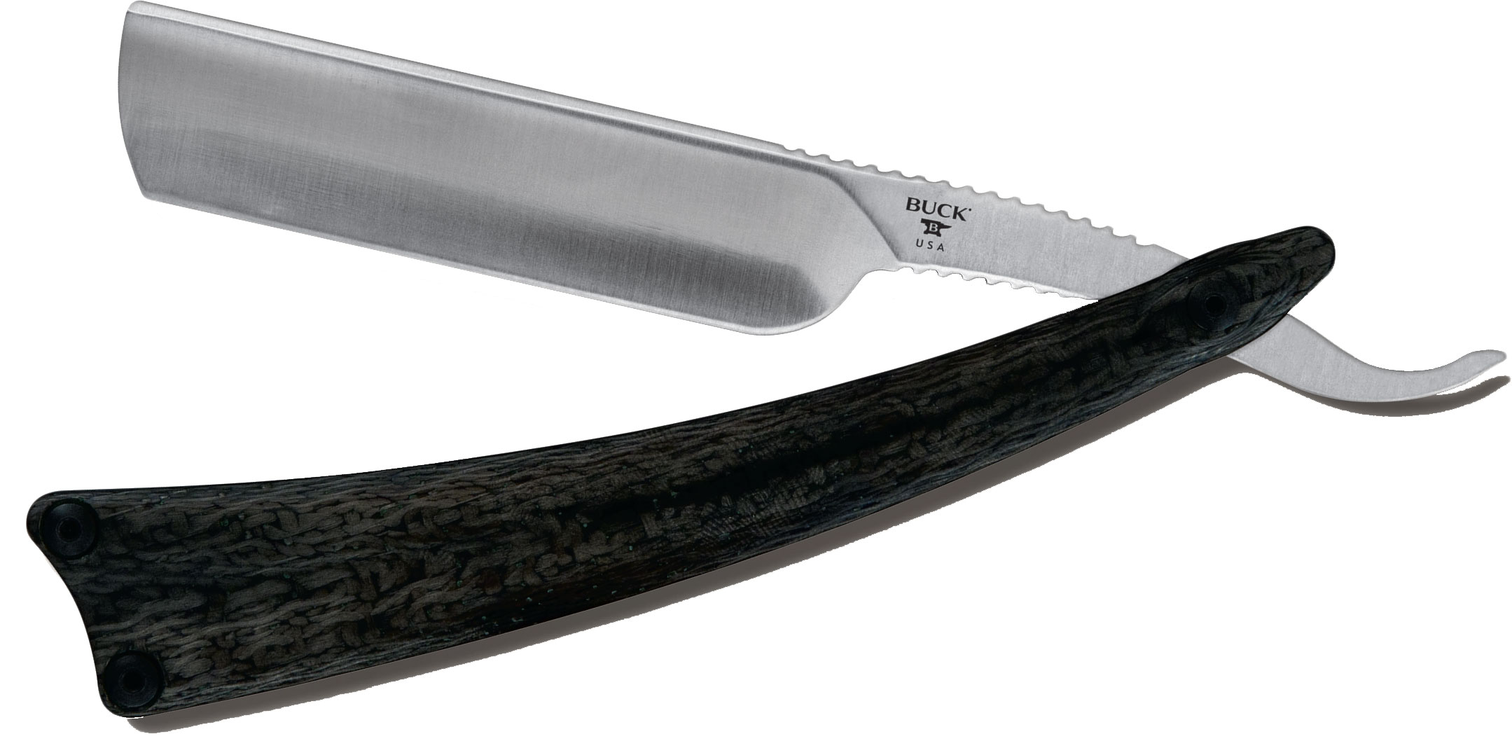 Buck 039 Legacy Collection Salient Straight Razor 2.75 inch Blade, Carbon Fiber Handles