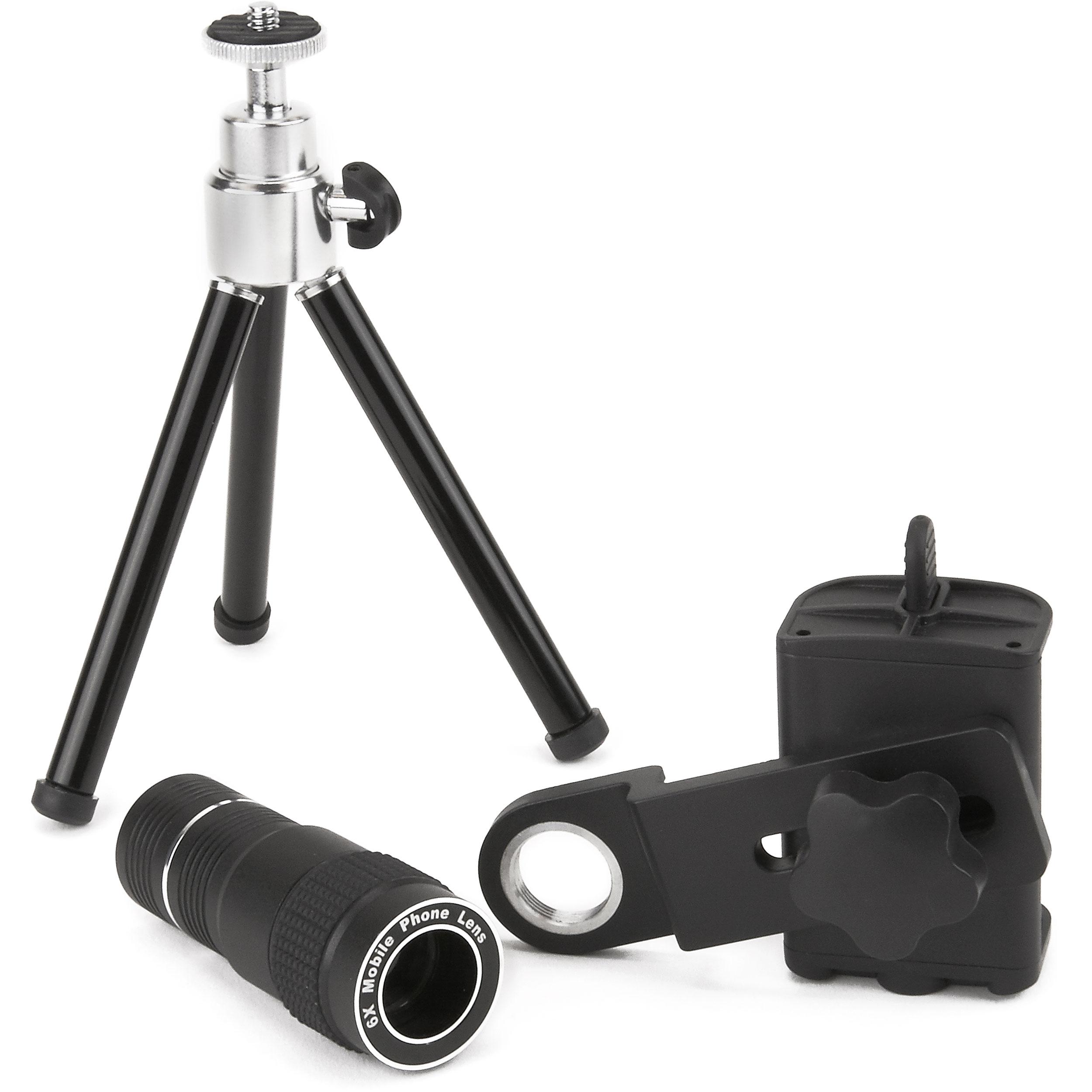 Carson Optical IC-918 HookUpz Smartphone Telephoto Lens, Adapter and Tripod
