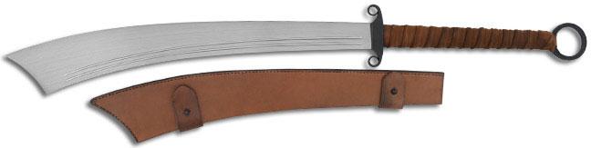 CAS Hanwei Military Dadao Sword 22-7/8 inch Blade, Leather Wrap Handle