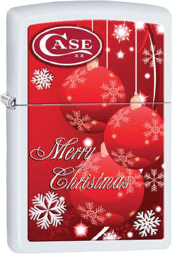 Case Zippo Lighter Red Christmas Ornaments 50187