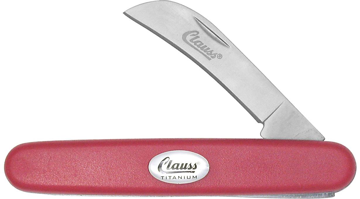 Clauss Titanium Bonded 6.5 inch Folding Knife Hawkbill Blade