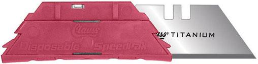 Clauss SpeedPak 5-pack Replacement Titanium Bonded Utility Blade Cartridges