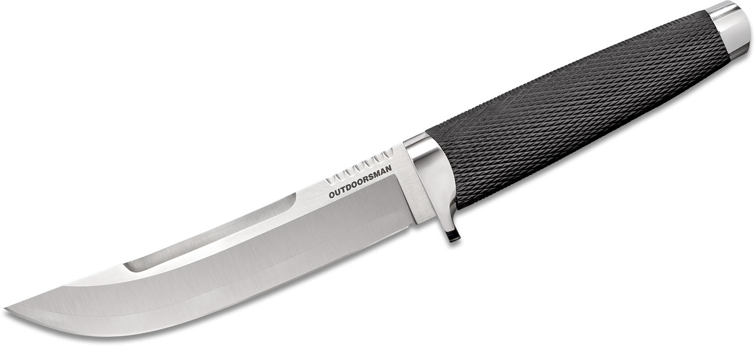Cold Steel 35AP Outdoorsman Fixed Blade Knife 6 inch VG-10 San Mai Blade, Kray-Ex Handle, Secure-Ex Sheath