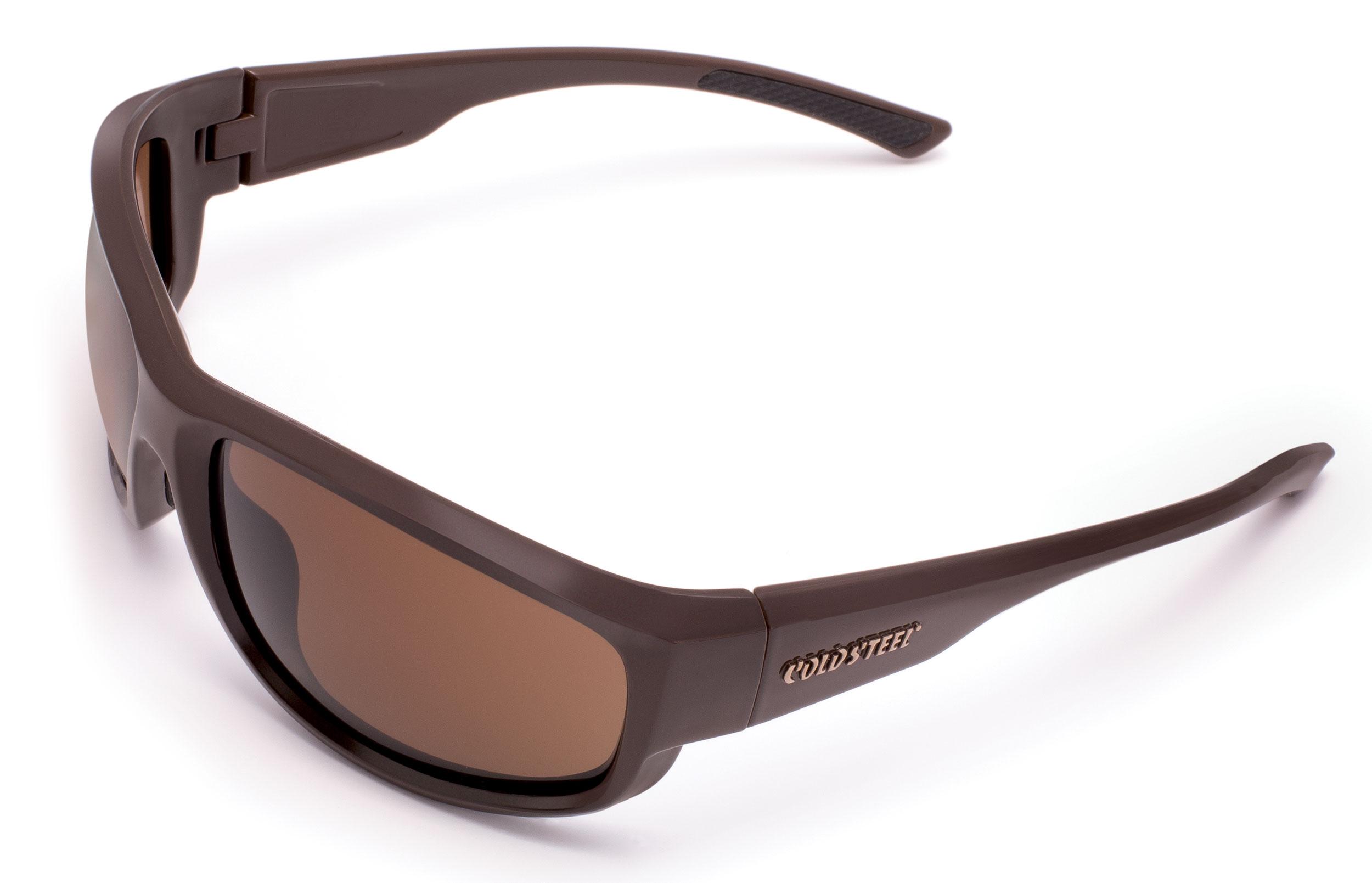 Cold Steel EW23M Battle Shades Mark-II Eyewear, Matte Brown Sunglasses