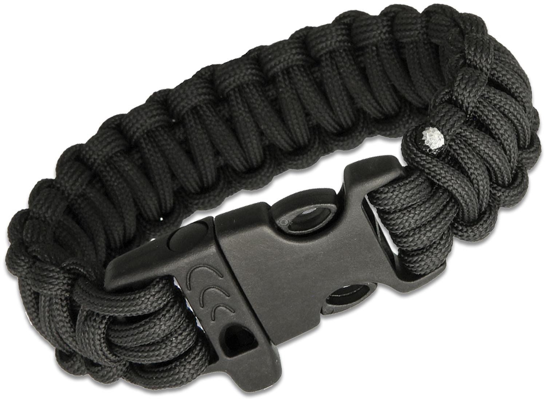 Combat Ready Paracord Survival Bracelet, Black
