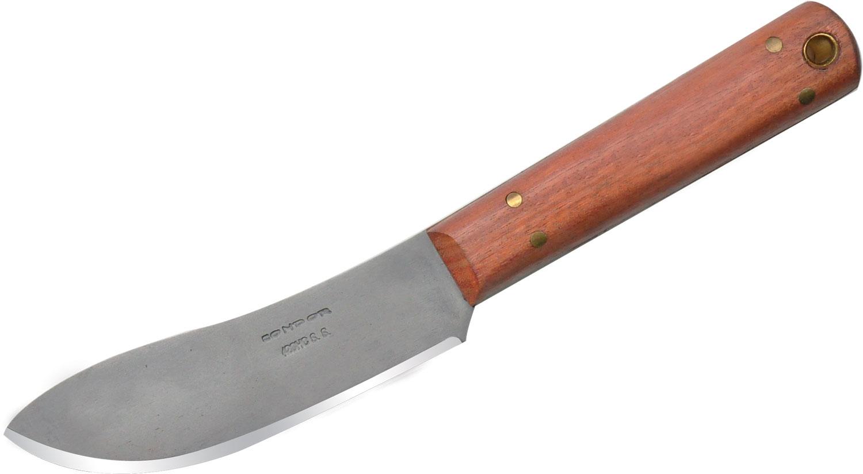 Condor Tool & Knife CTK256-4.5HC Hivernant Hunting Knife 4-1/2 inch Satin Stainless Steel Blade, Hardwood Handles, Leather Sheath