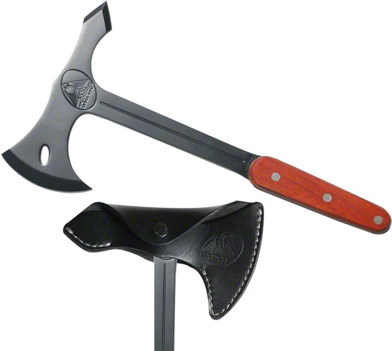 Condor Tool & Knife CTK4010BC Combat Axe 7 inch Carbon Steel Head, Hardwood Handles, Leather Sheath