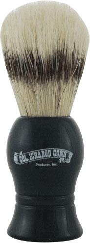 Colonel Conk #6 Deluxe Boar Bristle Shave Brush, Black Molded Resin Handle