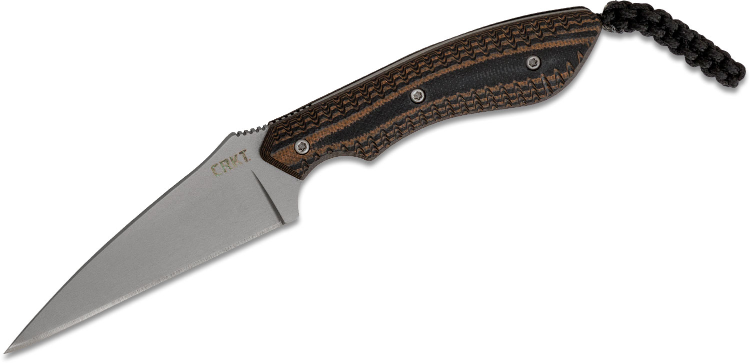 Columbia River CRKT 2388 Folts S.P.E.W. Small Pocket Everyday Wharncliffe Fixed 3 inch Blade, G10 Handles