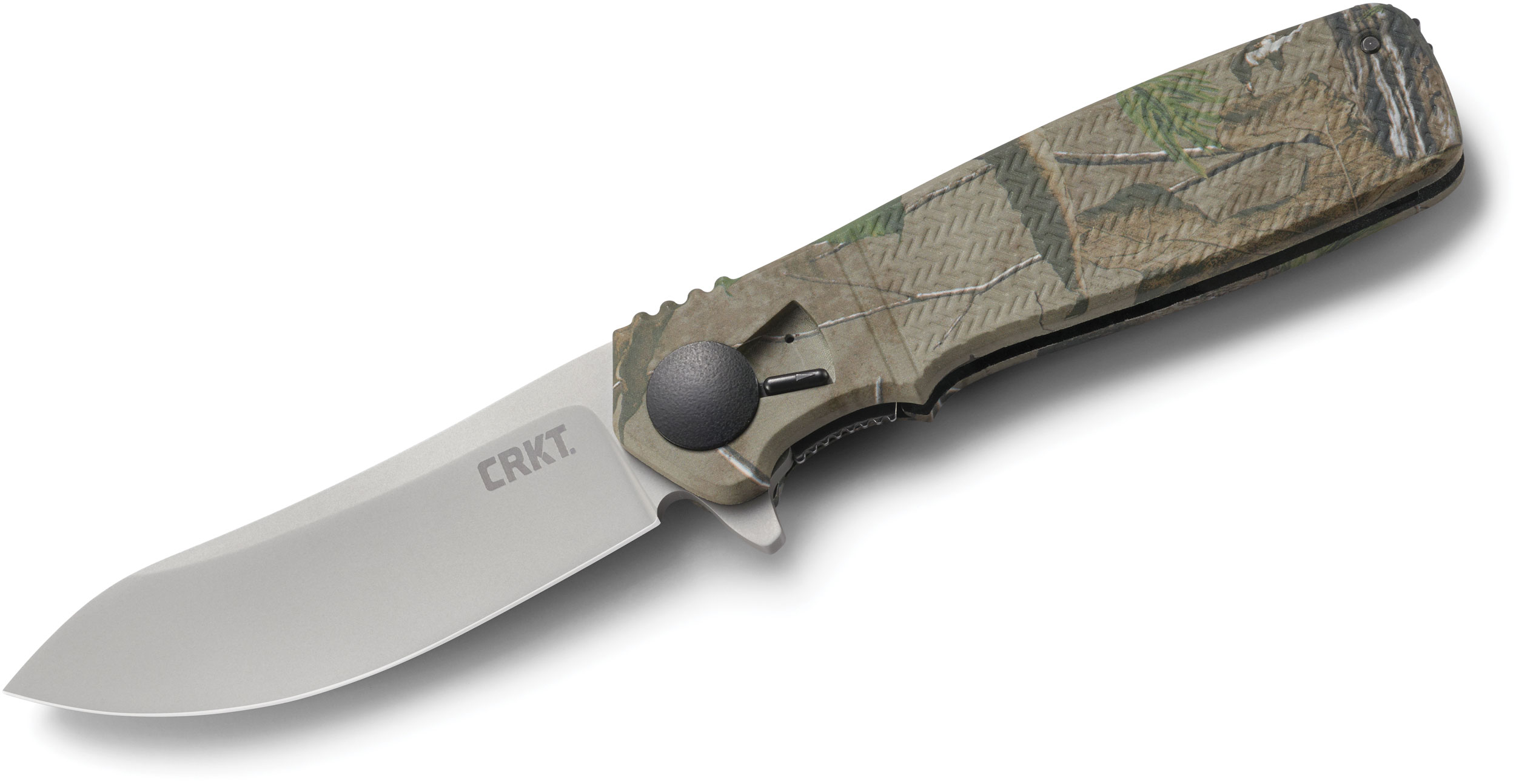 Columbia River CRKT K265CXP Homefront Hunter Flipper 3.566 inch Satin Plain Blade, Realtree XL Camo GRN Handles - Field Strip Technology