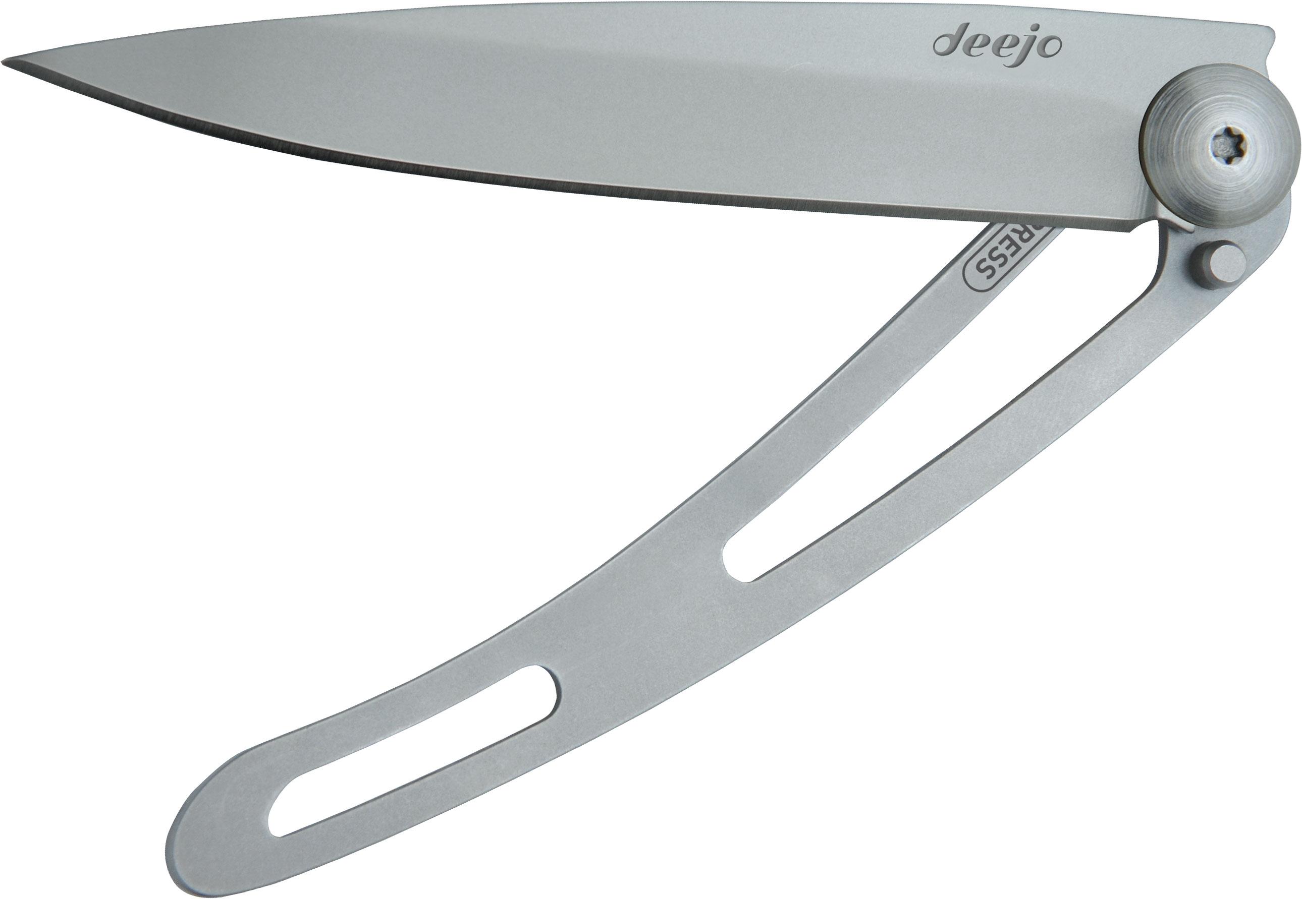 Deejo Knives Naked 37g Folding Knife 3.75 Satin Plain