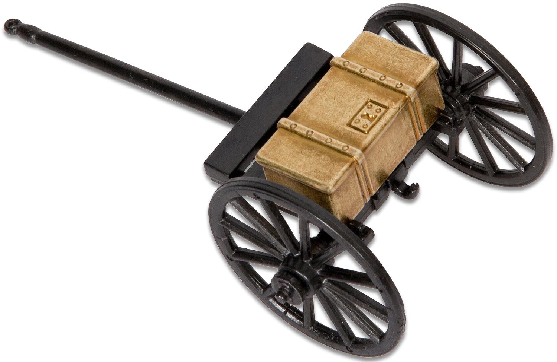 Denix Miniature 1857 American Civil War Limber, Black/Brass Metal