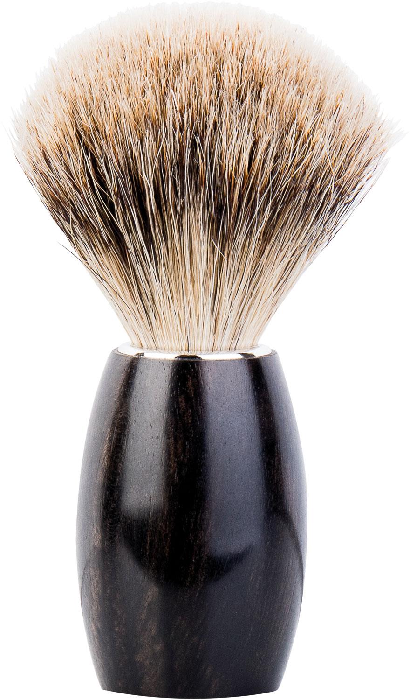 DOVO Fine Pure Badger Shave Brush, Ebony Handle