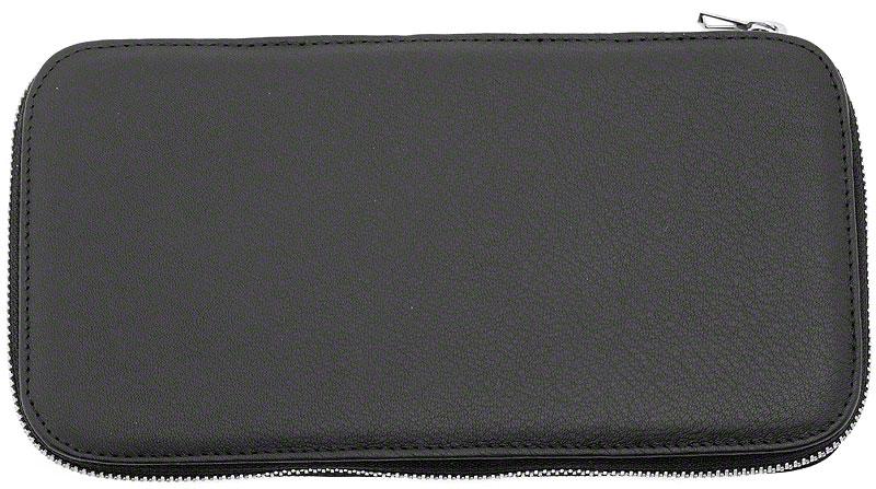 DOVO 271 010 Black Leather Padded Straight Razor Case