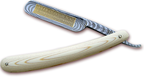 DOVO Straight Razor 5/8 inch Full Hollow Ground Blade, Micarta Handles