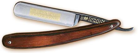 DOVO 5/8 inch Straight Razor, Reddish Brown Pakkawood Handles